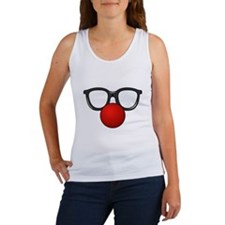 Funny Glasses with Clown Nose Tank Top