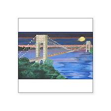 George Washington Bridge Full Moon Sticker