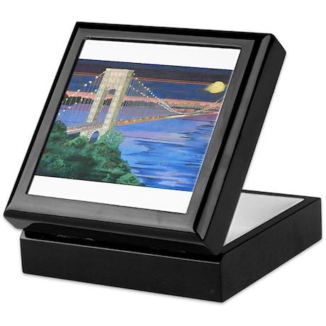 George Washington Bridge Full Moon Keepsake Box
