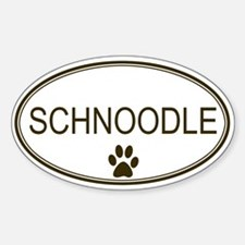 Oval Schnoodle Oval Decal