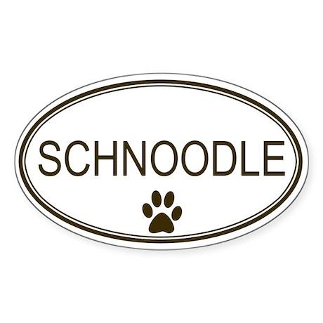 Oval Schnoodle Oval Sticker
