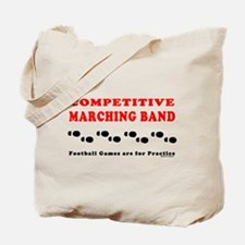 Competitive Band Footprints Tote Bag