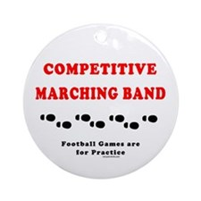 Marching Band Footprints Ornament (Round)