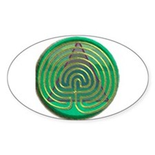 Labyrinth for Recovery Oval Decal