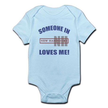 Someone In New Hampshire Loves Me Infant Bodysuit