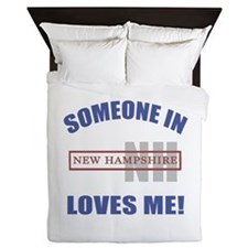 Someone In New Hampshire Loves Me Queen Duvet