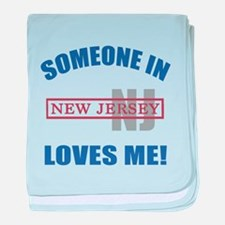 Someone In New Jersey Loves Me baby blanket