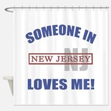 Someone In New Jersey Loves Me Shower Curtain