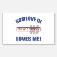 Someone In New Jersey Loves Me Sticker (Rectangle)