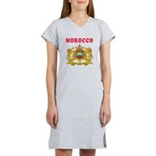 Morocco Coat Of Arms Designs Women's Nightshirt