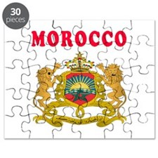 Morocco Coat Of Arms Designs Puzzle
