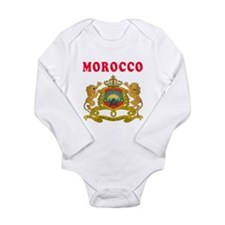 Morocco Coat Of Arms Designs Long Sleeve Infant Bo