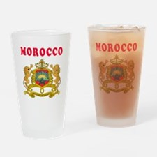 Morocco Coat Of Arms Designs Drinking Glass