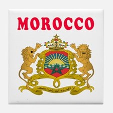Morocco Coat Of Arms Designs Tile Coaster