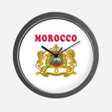 Morocco Coat Of Arms Designs Wall Clock