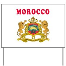 Morocco Coat Of Arms Designs Yard Sign