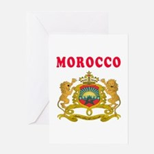 Morocco Coat Of Arms Designs Greeting Card