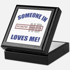 Someone In North Dakota Loves Me Keepsake Box