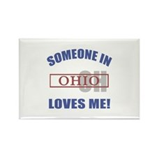 Someone In Ohio Loves Me Rectangle Magnet