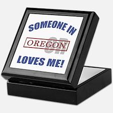 Someone In Oregon Loves Me Keepsake Box