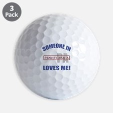Someone In Pennsylvania Loves Me Golf Ball