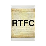 Read The Fine Constitution Rectangle Magnet (10 pa
