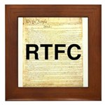 Read The Fine Constitution Framed Tile