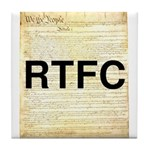 Read The Fine Constitution Tile Coaster