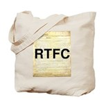 Read The Fine Constitution Tote Bag