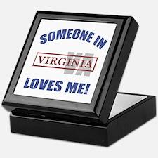 Someone In Virginia Loves Me Keepsake Box