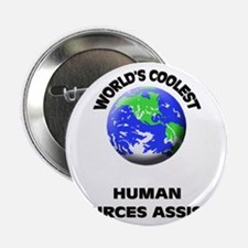 "World's Coolest Human Resources Assistant 2.25"" Bu"