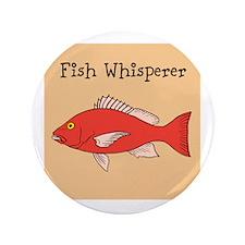 "FISH WHISPERER 3.5"" Button (100 pack)"