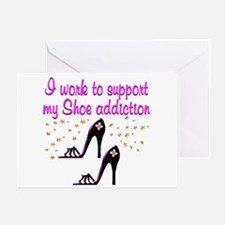 GLAMOUR SHOES Greeting Card