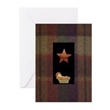 Flannel Christmas Design Cards (Pk of 10)