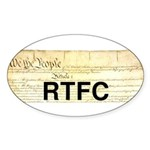 Read The Fine Constitution Sticker (Oval)