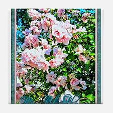 Rose of Sharon Hibiscus Tile Coaster