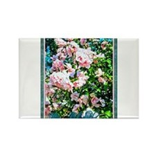 Rose of Sharon Hibiscus Rectangle Magnet