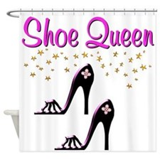 PURPLE SHOES Shower Curtain