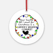 Dear Santa Cherry Headed Conure Christmas Ornament