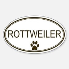 Oval Rottweiler Oval Decal