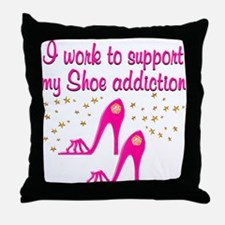 SHOE CHICK Throw Pillow