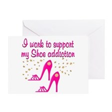 SHOE CHICK Greeting Card