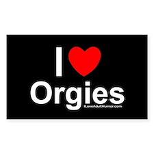 Orgies Decal