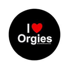 """Orgies 3.5"""" Button"""