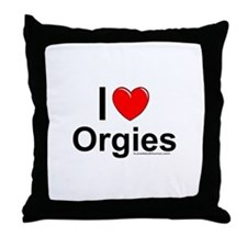 Orgies Throw Pillow