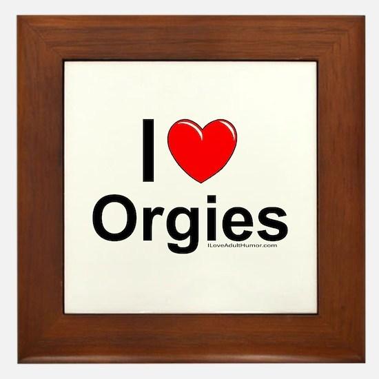 Orgies Framed Tile