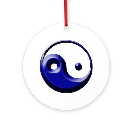 Yin-Yang Symbol Ornament (Round)
