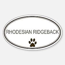 Oval Rhodesian Ridgeback Oval Decal