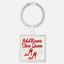 WILD RED SHOES Square Keychain