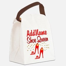WILD RED SHOES Canvas Lunch Bag
